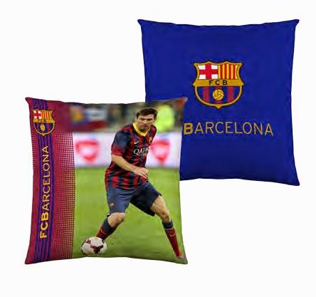 Funda cojín 40x40 cms. FCBarcelona. ref: FUTC06 Messi. Euromoda