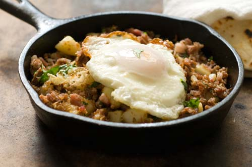 Corned beef hash with chipotle chiles and Irish bacon | Homesick Texan