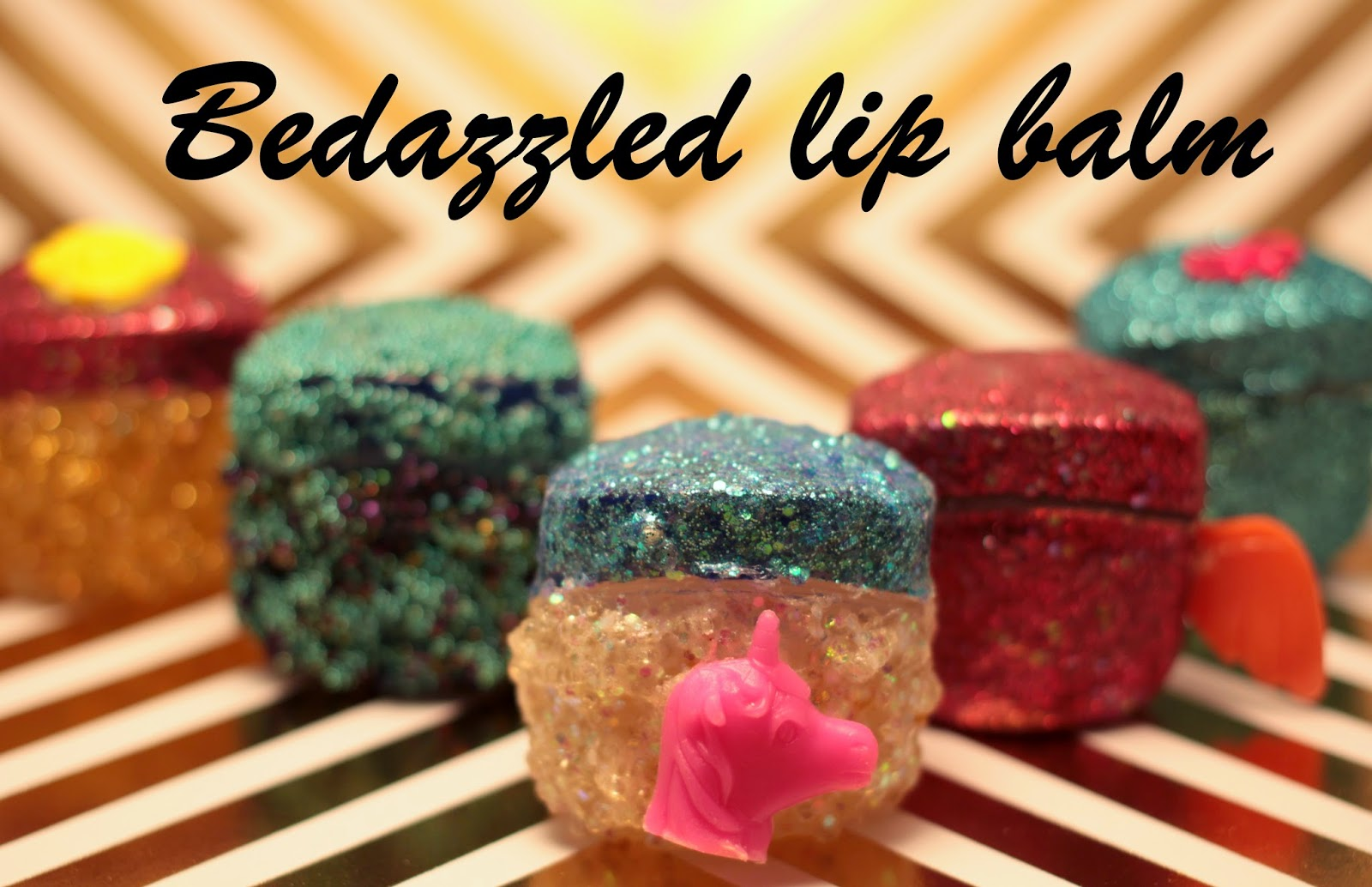 bedazzled lip balm tutorial, kawai lip balm, diy, christmas gift diy,