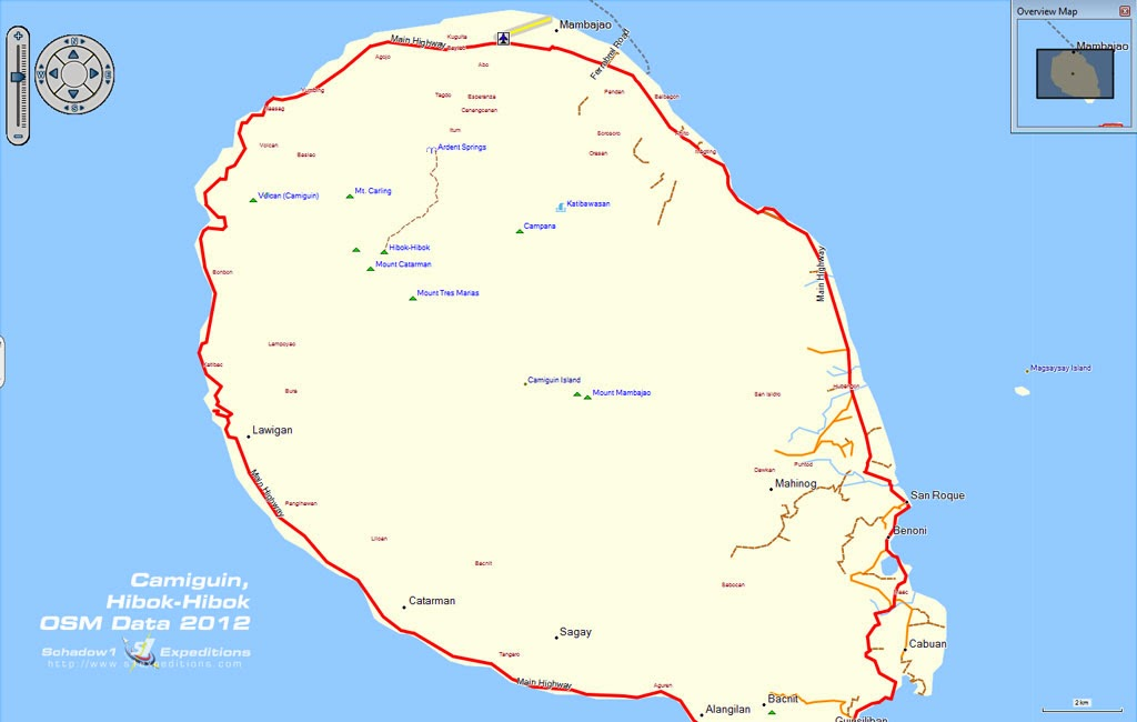 Map Of Camiguin Island Philippines