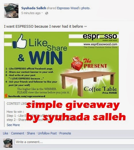 Simple Giveaway by Syuhada Salleh