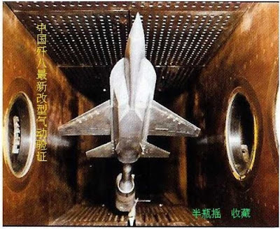 Chinese Single Engine Stealth Fighter Wind Tunnel Model