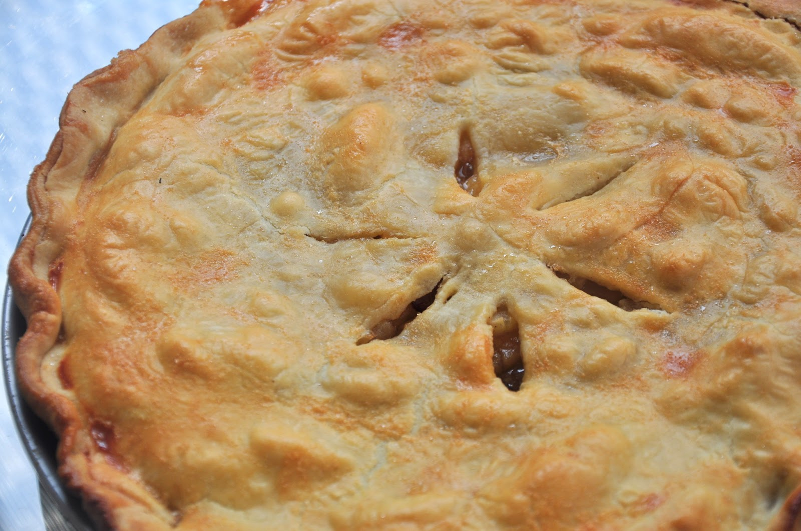 ... double crust apple pie recipe myrecipes com double crusted apple pie