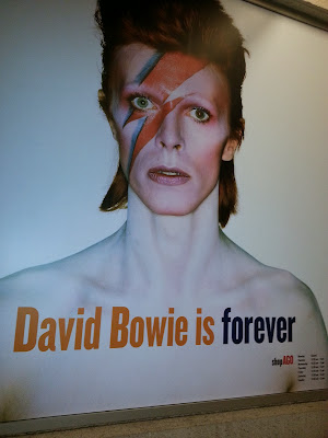 Large sign outside David Bowie Is exhibit at the Art Gallery of Ontario, Toronto