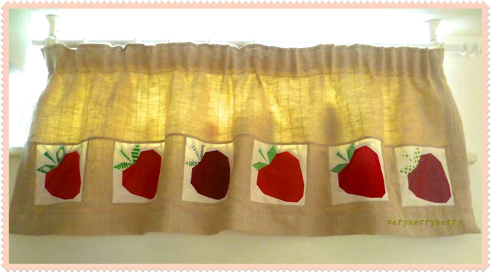 Strawberry kitchen curtains