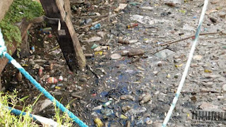 Mantanza-Riachuelo polluted water draining garbage