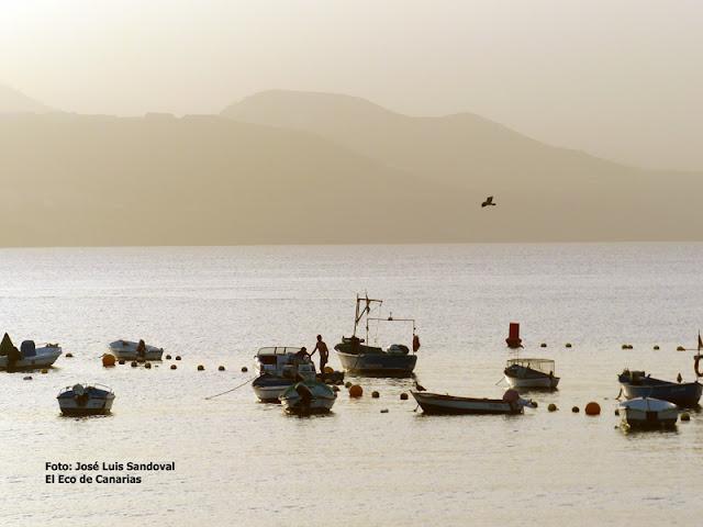 fotos de la calima en Canarias diciembre 2015