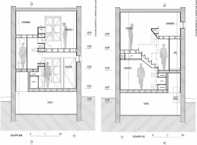 Baño Familiar Medidas:Una casa en el jardín, un mueble de madera habitado