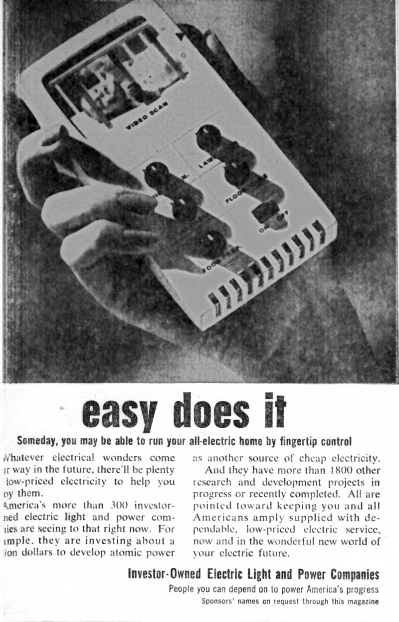 Readers Digest August 1964 ad for Investor Owned Power - cheap electric power from atomic energy