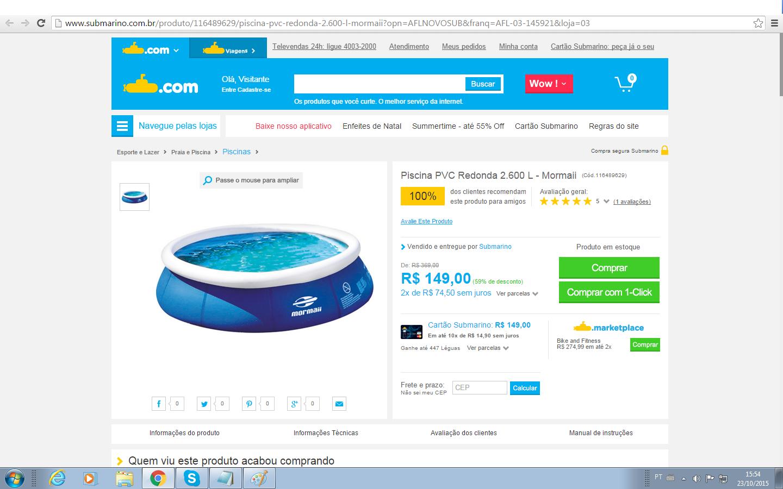 Super ofertas ofertas de sapatenis piscina pvc for Ofertas de piscinas