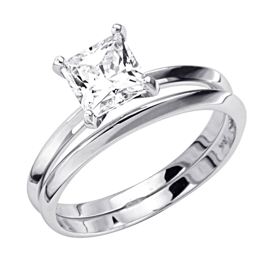 the best sterling silver princess cut engagement rings