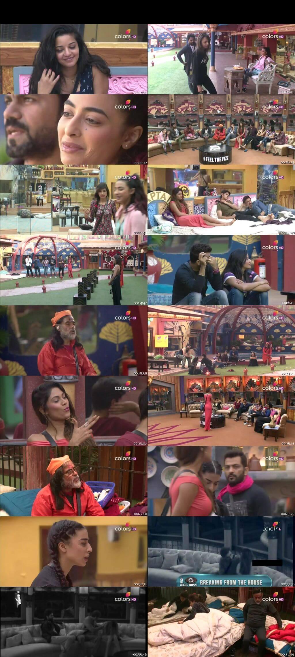 Screenshots Of Hindi Show Bigg Boss 10 16th December 2016 Episode 62 300MB 480P HD
