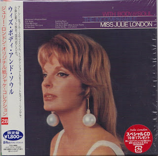 JULIE LONDON - WITH BODY & SOUL (LIBERTY 1967) Jap mastering cardboard sleeve