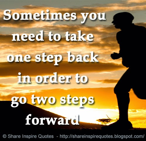Taking Steps Back to Move Forward Need to Take One Step Back