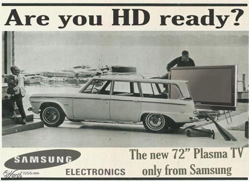 anúncios vintage - produtos modernos - Samsung HD Ready
