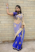 Ashakumari Navel Show in Transparent Saree still
