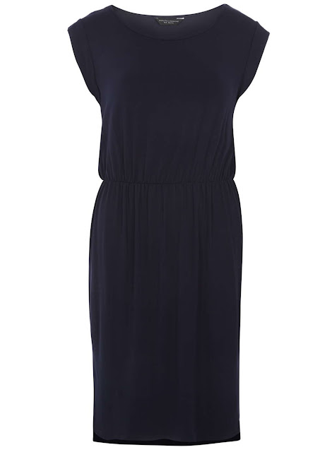 navy waisted dress, navy t-shirt dress, navy midi dress, navy casual dress,