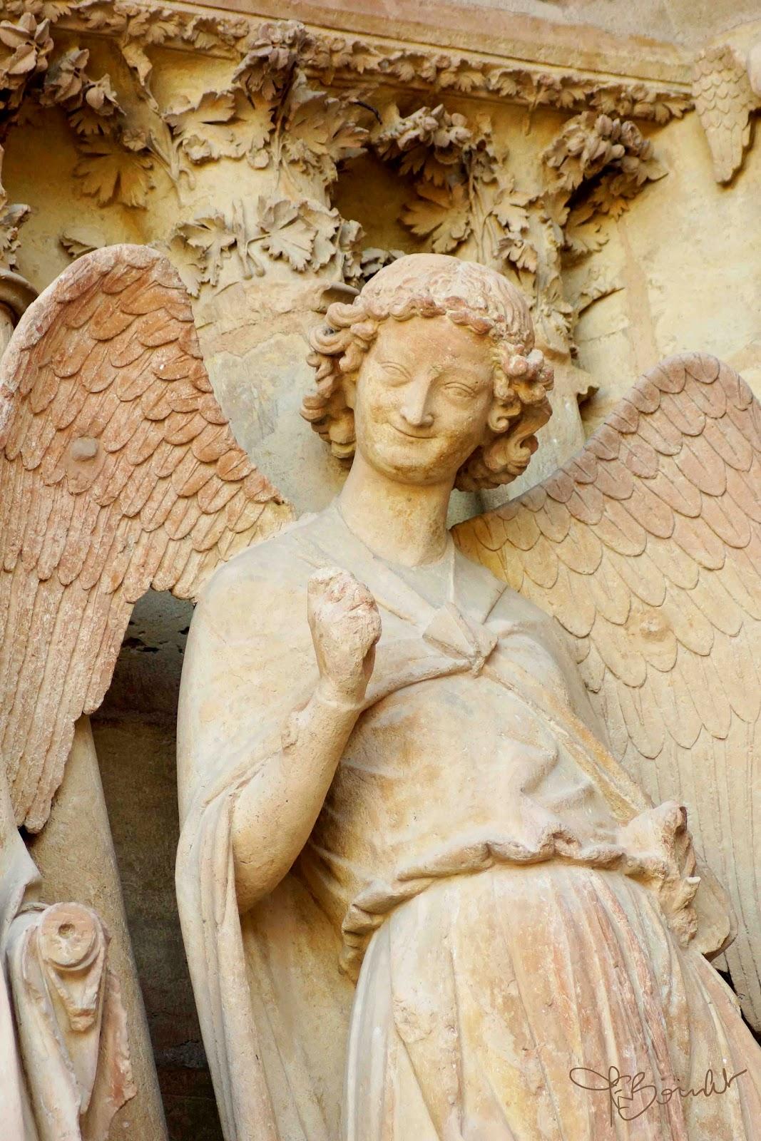 Ange Cathedrale Reims Reims la Cathédrale L'ange