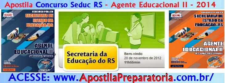 Apostila SEDUC/RS - Secretaria de Educação do RS - Agente Educacional II - 2014.