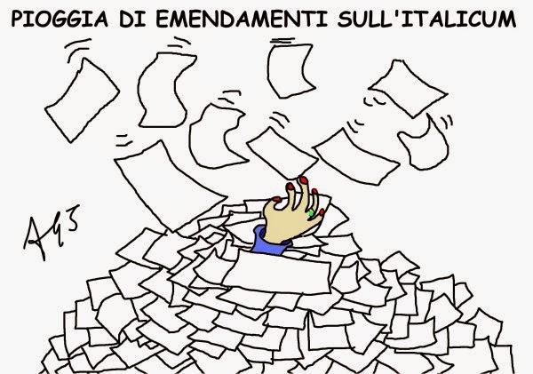 Italicum, riforme, Boschi, vignetta, satira