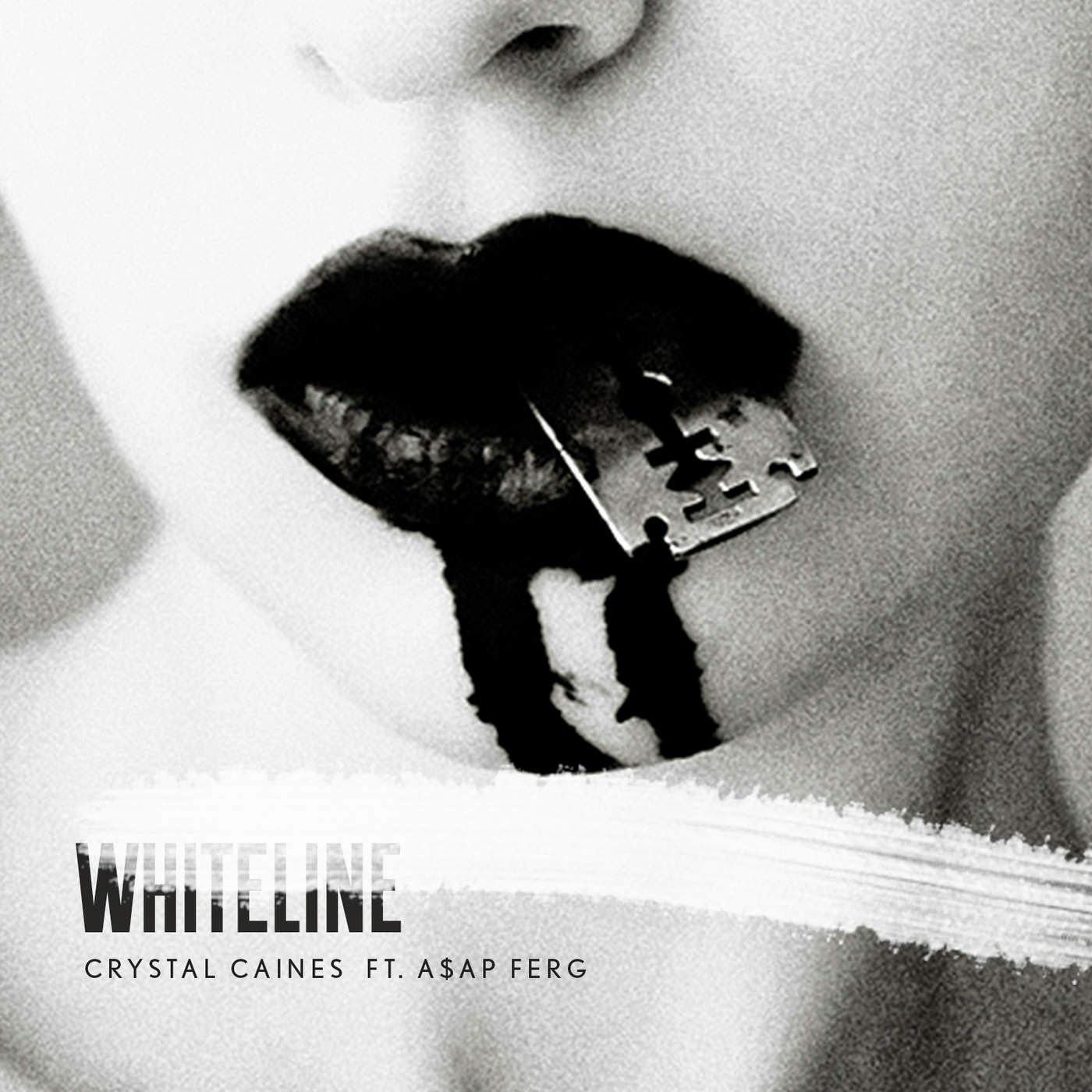 Crystal Caines - Whiteline (feat. A$Ap Ferg) - Single Cover