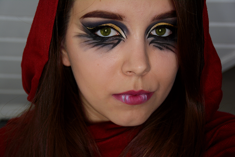 red riding hood make-up, czerwony kapturek, ever after high, ever after high make-up, cerise hood, cerise hood make-up,