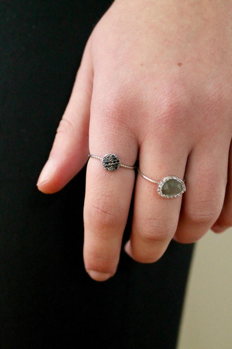 delicate feminine rings