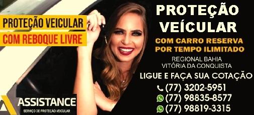ASSISTANCE: PROTEÇÃO VEICULAR COM CARRO RESERVA E REBOQUE LIVRE -   (73) 98158-5607