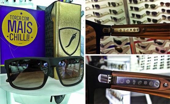 óculos de sol amuletos Mandinga coleção Manto Sagrado para Copa do mundo