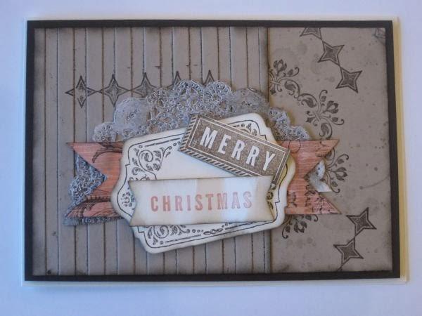 stempelhex mit farbenklex shabby chic weihnachtskarten. Black Bedroom Furniture Sets. Home Design Ideas