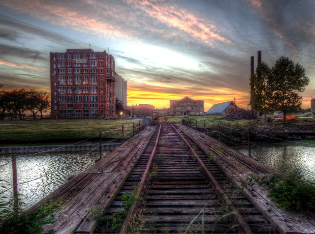 Sunset at The Imperial Sugar Factory in Sugar Land, Texas - HDR