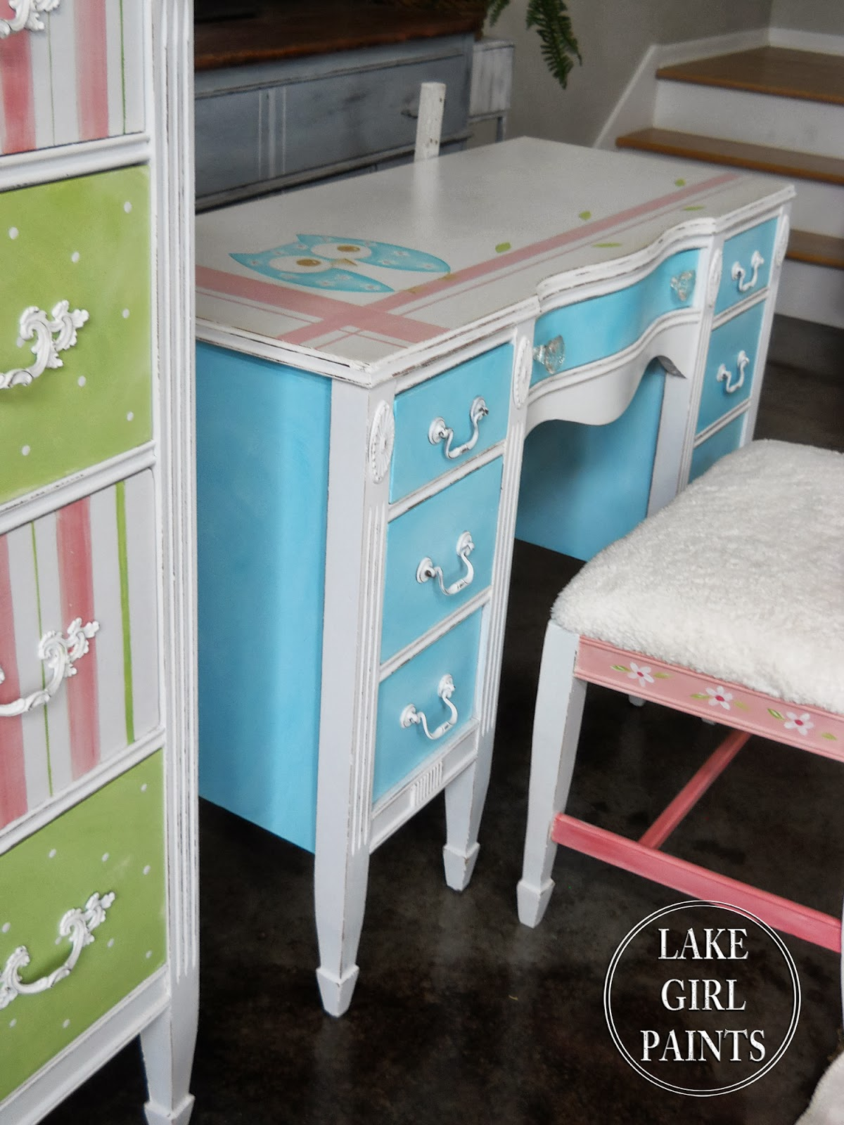 Lake Girl Paints Girl s Painted Bedroom Furniture