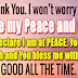 THE LORD BLESSES HIS PEOPLE WITH PEACE