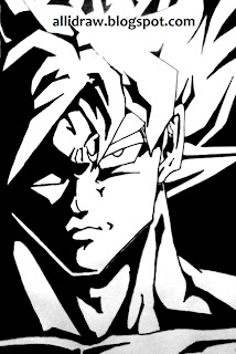 Goku sketch by Maninder Pal Singh