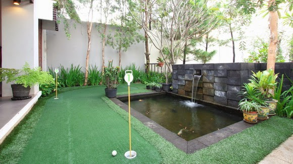 desain taman rumah asri