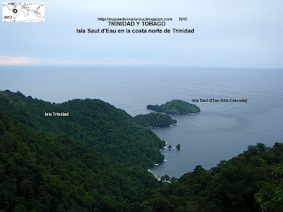 Isla Saut d'Eau en la costa norte de Trinidad  (Isla de Trinidad y Tobago)