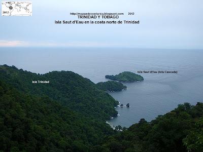 Isla Saut d'Eau en la costa norte de Trinidad  (Isla de Trinidad y Tobago)