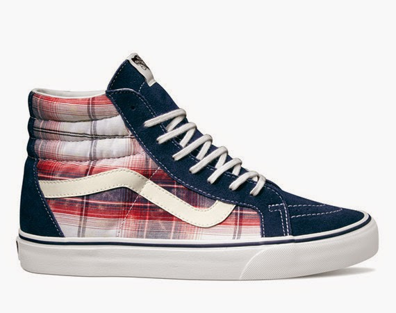 Vans Distressed Plaid Classics - Sk8 Hi