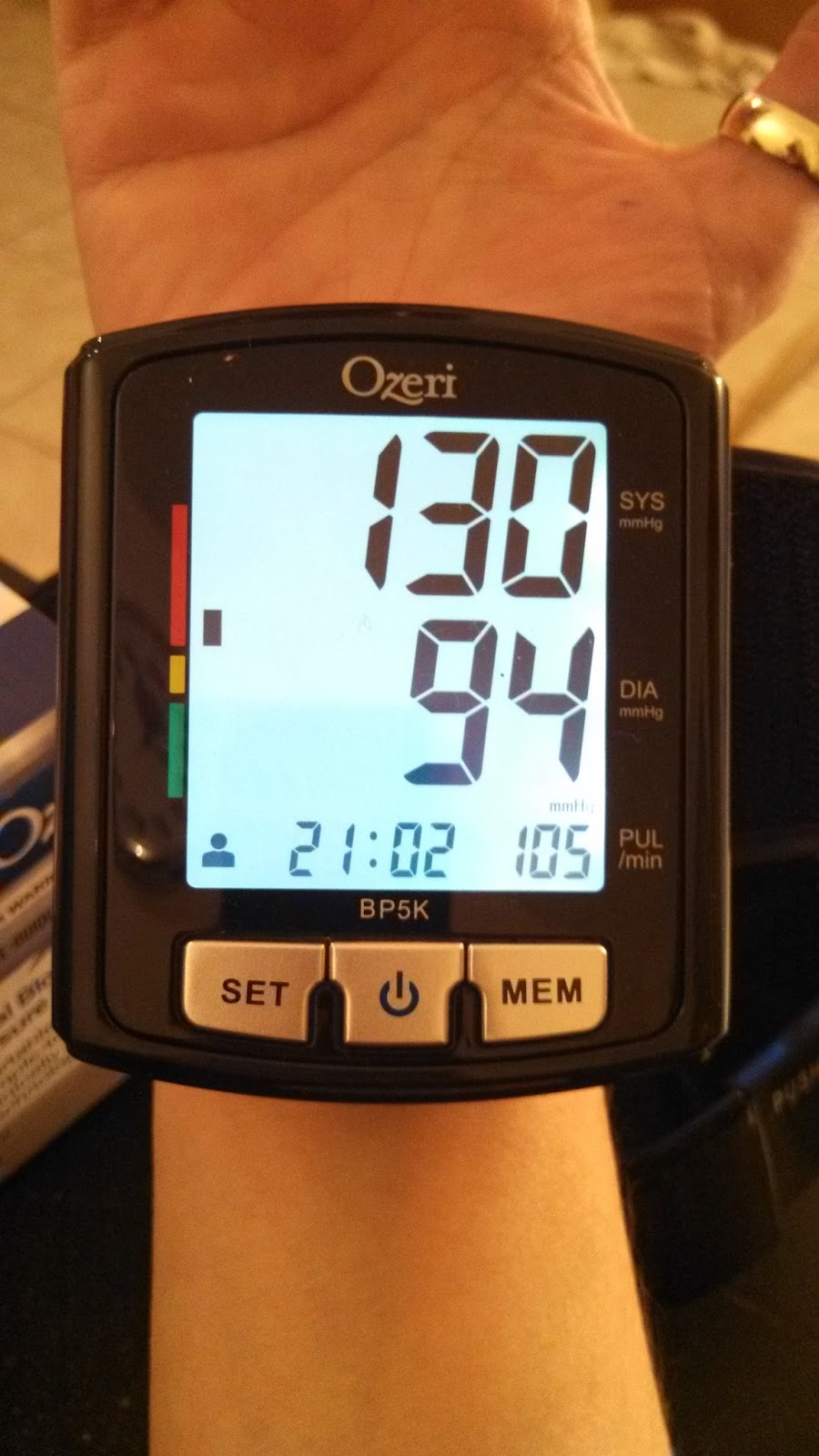 Ozeri digital blood pressure monitor