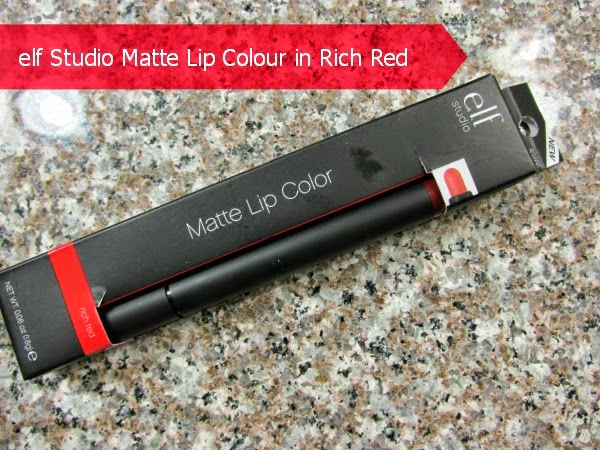 e.l.f. Studio Matte Lip Color in Rich Red - Review