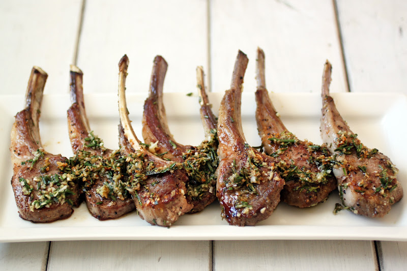 Coconut Oil Seared Lamb Chops with Rosemary and Garlic photo