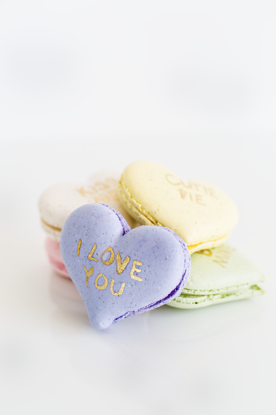So about what I said...: DIY Conversation Heart Macarons