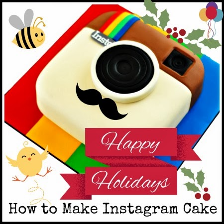 How to Make an Instagram themed Cake via Instagramfanatic.blogspot.com | Recipe for Instagram fans