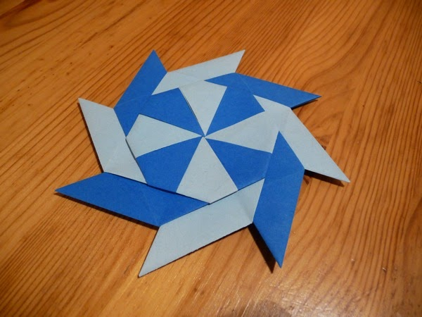 how to make a origami ninja star