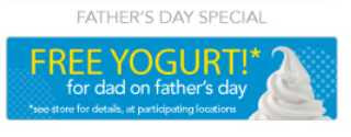 Free Yogurt For Dads on Father's Day at TCBY (6/17)