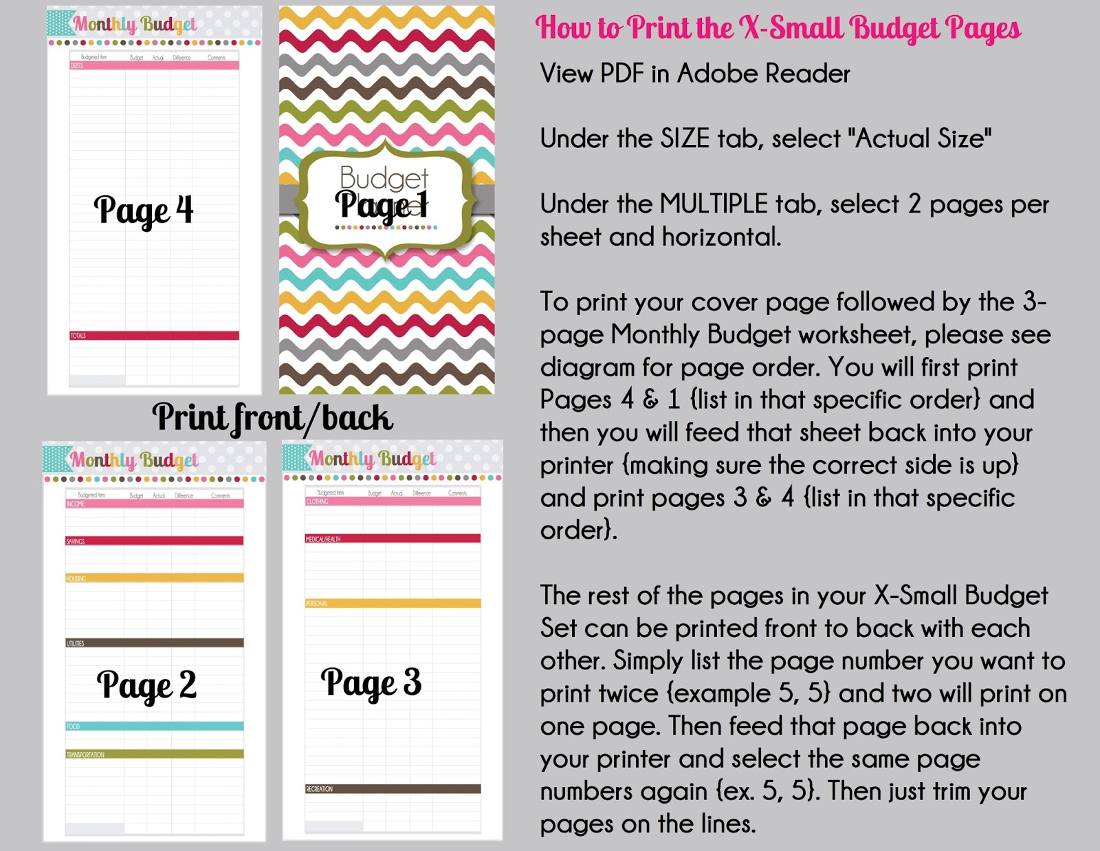 The Polka Dot Posie: Month 1: Creating a Budget Planner & Making it ...
