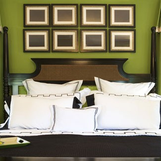 Eye for design decorating with the brown lime green for Master bedroom designs green