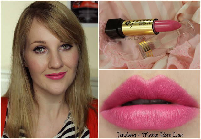 Jordana Matte Rose Lust lipstick swatch
