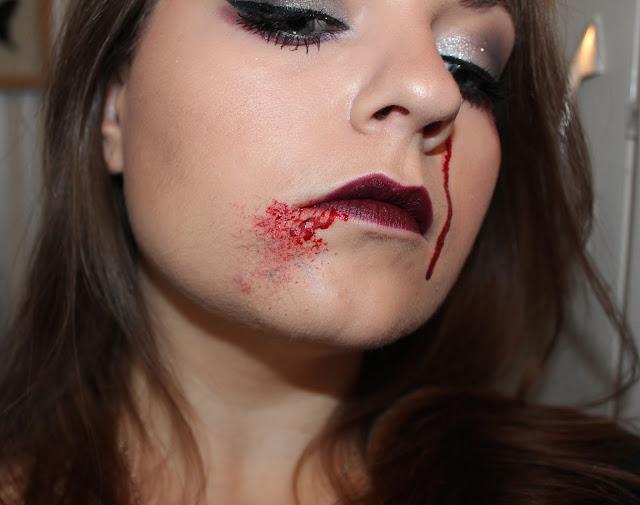 Photo of Blogger Vanessa Wilson the other vw as fallen angel gothic makeup, broken veins