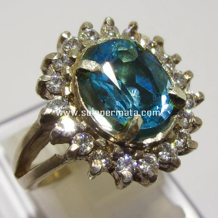 Batu Permata Blue Topaz - 16A02